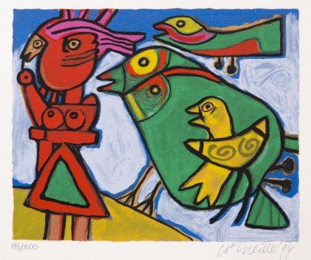 Femme Amoureux des Oiseaux