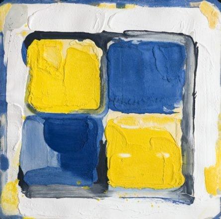 Jaune blauw blok