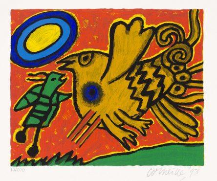 L'oiseau et Insect Orange