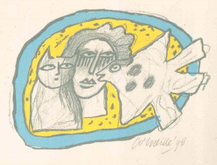 Femme, Chat et Oiseau
