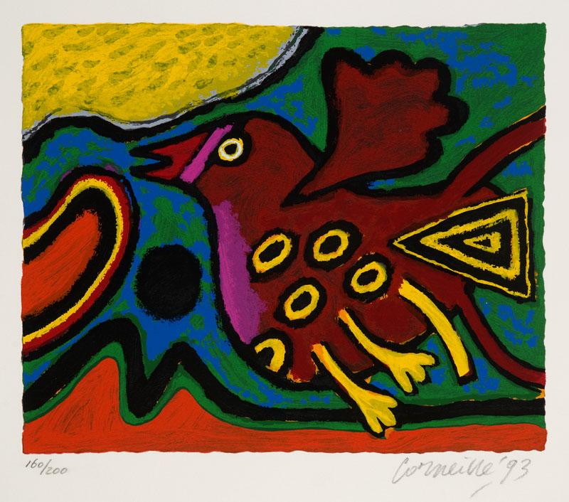 L'oiseau Rouge Foncé