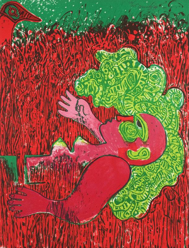 Dans L'infinie verticalite de L'herbe la Femme