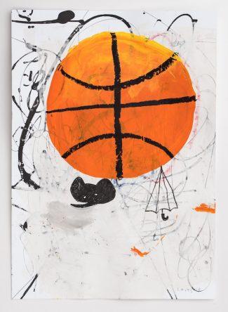 the sun as a basketball,