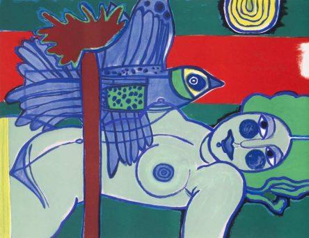 Femme verte et L'oiseau bleu