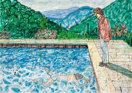 Portrait of an Artist (Pool with Two Figures) II