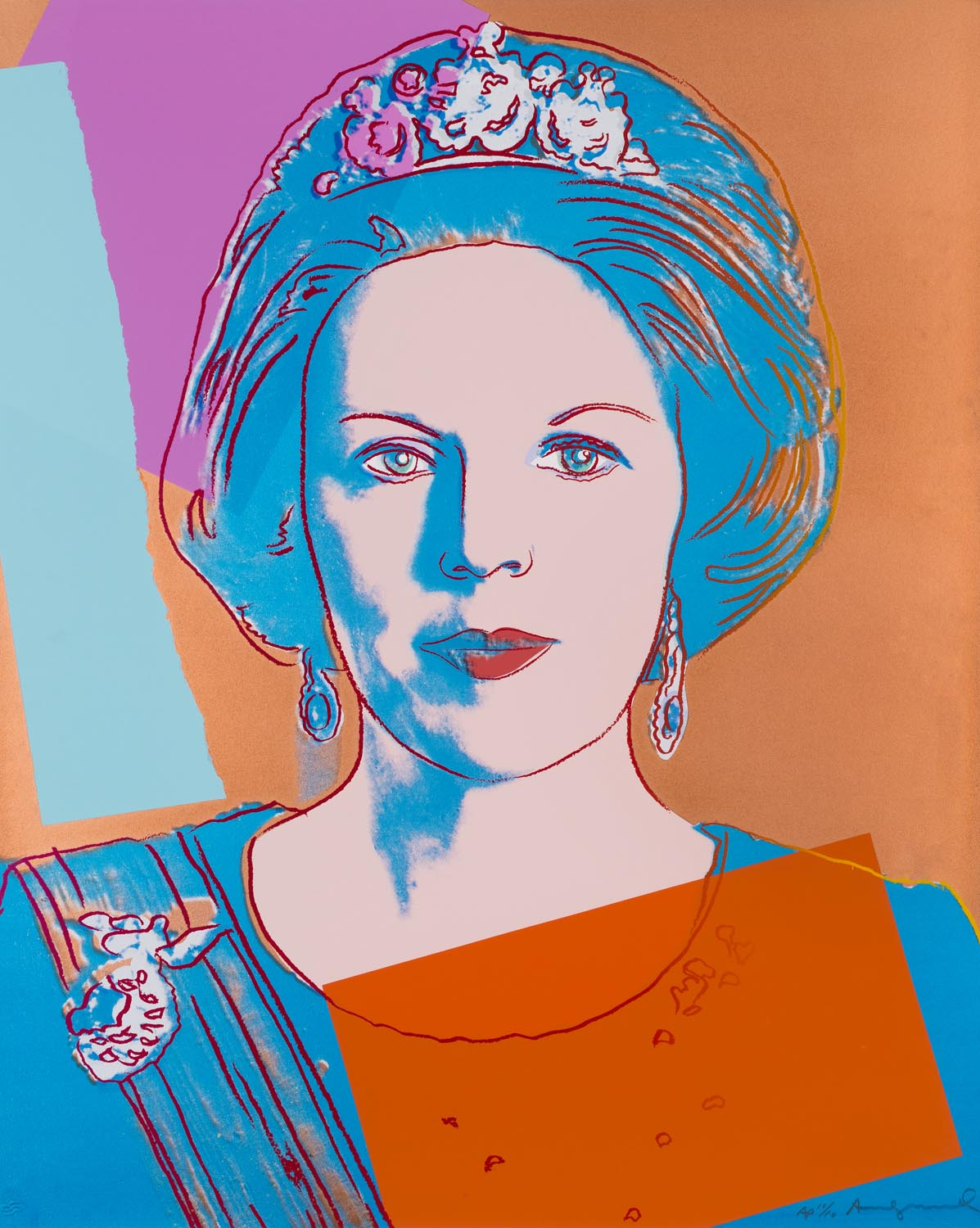 Andy Warhol - Queen Beatrix of the Netherlands - screenprint 1985 - edition PP 5/5