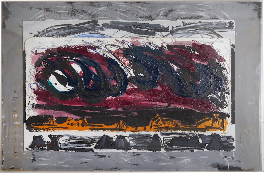 Karel Appel - Clouds - 1984 - Acrylic with oilstick on handmade paper mounted on cardboard - 140 x 215 cms